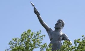 The statue of Vulcan in Birmingham, Alabama.