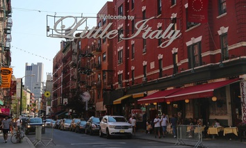 The Italian neighborhood of Little Italy in Lower Manhattan, New York City.