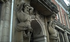 An architectural detail from the Wayne County Courthouse in Wooster, Ohio.
