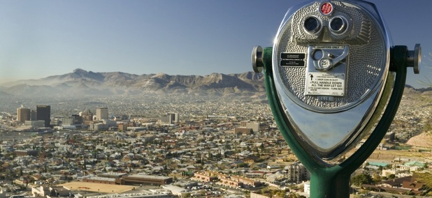 Juarez, Mexico, as seen from El Paso, Texas.