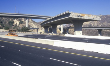 The Northridge earthquake in 1994 crippled sections of freeway infrastructure in the Los Angeles area.