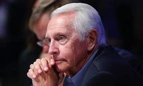Kentucky Gov. Steve Beshear listens to proceedings during a meeting of the Joint Committee session on addressing the nation's opiod crisis at the National Governors Association summer meeting in White Sulphur Springs, W. Va., in July.