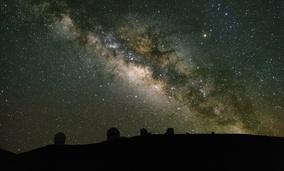 Looking at the Milky Way from Mauna Kea on Hawaii's Big Island.
