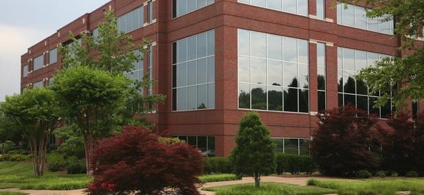 A sterile suburban office park.