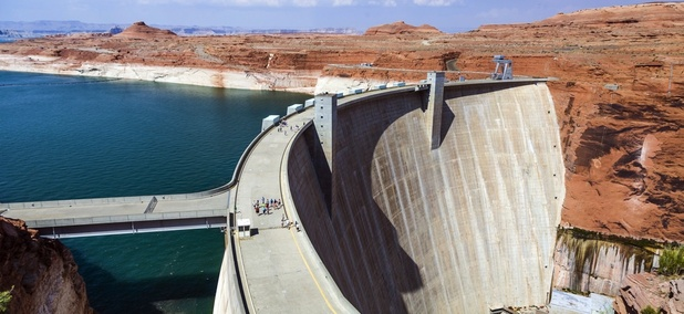 Glen Canyon Dam near Page, Arizona