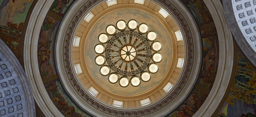 The Rotunda of the Utah State Capitol in Salt Lake City.