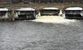 The Flint River in Flint, Michigan.