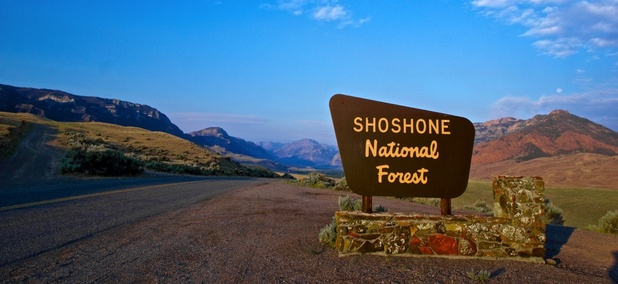 The Shoshone National Forest in Wyoming.