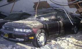 Damage from the 1994 Northridge earthquake in Los Angeles.