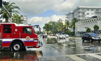 Flooding in Miami's South Beach following 2012's Hurricane Sandy.