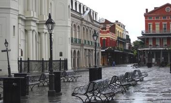 New Orleans' French Quarter post-Hurricane Gustav in 2008.