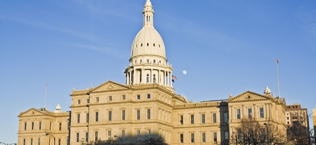 The Michigan State Capitol in Lansing