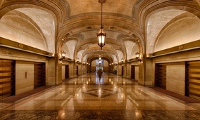 Chicago, Illinois City Hall. Through Envision Chicago, students learn civics lessons by engaging with city laws.