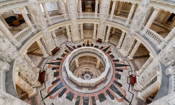 The Rotunda of the Idaho State Capitol in Boise.