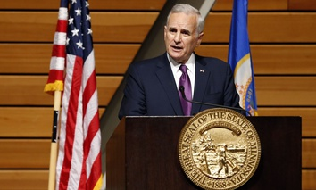 Minnesota Gov. Mark Dayton delivers the State of the State Address at the University of Minnesota on March 9, 2016.