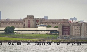 The eastern section of the Rikers Island Jail complex.