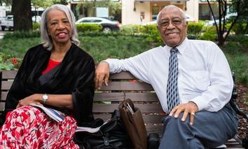 An older couple in Savannah, Georgia