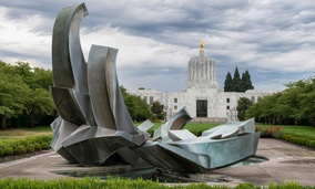 The Oregon State Capitol in Salem