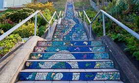 The Moraga Steps in San Francisco, California