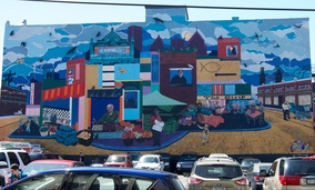 A mural in Pittsburgh's Strip District