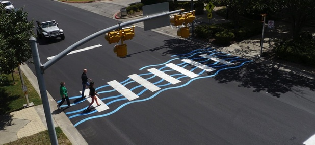 Austin, Texas' first 'creative crosswalk.'