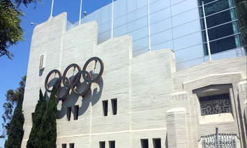 The L.A. Swimming Stadium was used for the 1932 Olympic games.