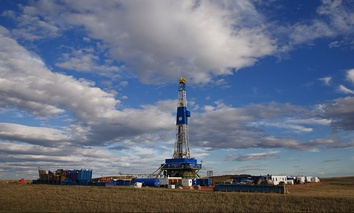 An oil rig near Williston, North Dakota.