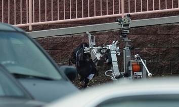 A bomb squad robot used in an unrelated incident.