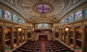 The House of Representatives chamber of the Missouri state capitol.