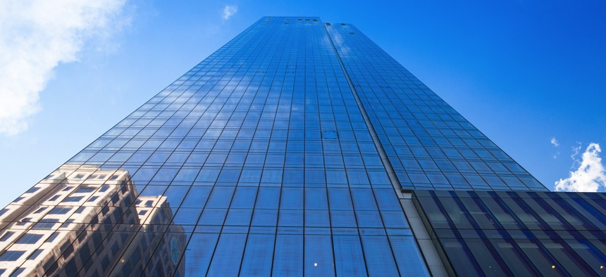A skyscraper in Boston, Massachusetts.
