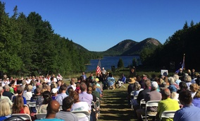 This weekend's ceremony at Acadia National Park to celebrate the park's centennial.