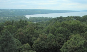 Lake Cayuga in Ithaca, New York