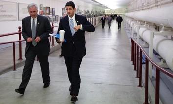 U.S. Rep. Tom McClintock, R-California, left, walks with House Speaker Paul Ryan, R-Wisconsin, right.