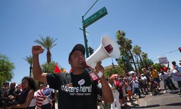 An anti-SB 1070 Rally in Phoenix, Arizona in 2010.