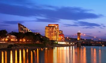 Covington is located in Kenton County, Kentucky, across the Ohio River from Cincinnati.