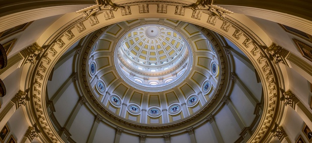 The Rotunda of the Colorado State Capitol.