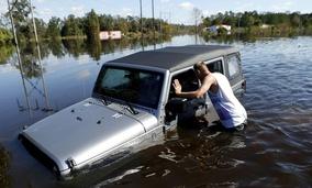 Flooding near Lumberton, N.C.