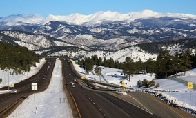 Interstate 70 in the Rocky Mountains
