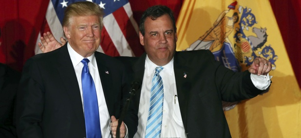 Republican presidential nominee Donald Trump and New Jersey Gov. Chris Christie.