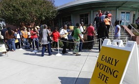 Early voting in Raleigh, North Carolina.