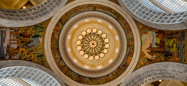 The rotunda of the Utah State Capitol building.