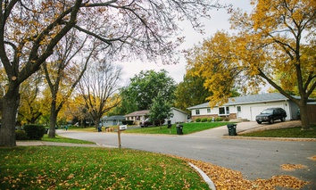 A residential area in Minneapolis, Minnesota
