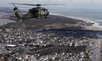 Gov. Andrew Cuomo, Sen. Kirsten Gillibrand, D-NY, Sen. Charles Schumer, D-NY, and local officials took a flight over New York City, Nassau and Westchester counties to get an assessment of damages from Superstorm Sandy.