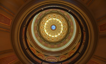 The rotunda in the California State Capitol.