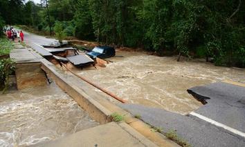 Flooding in Columbia, South Carolina.