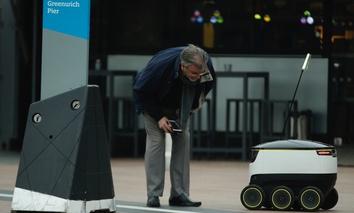 A delivery robotic , ... ]