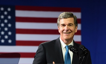 Incoming Governor of North Carolina, Roy Cooper.