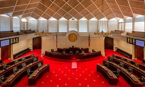 The senate chamber of the North Carolina State House.