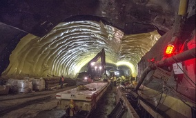 Work on the East Side Access project in New York City continues deep below Grand Central Terminal.