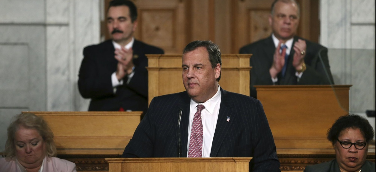 New Jersey Gov. Chris Christie delivers his State of the State Address at the State Assembly on Tuesday, Jan. 10 in Trenton.